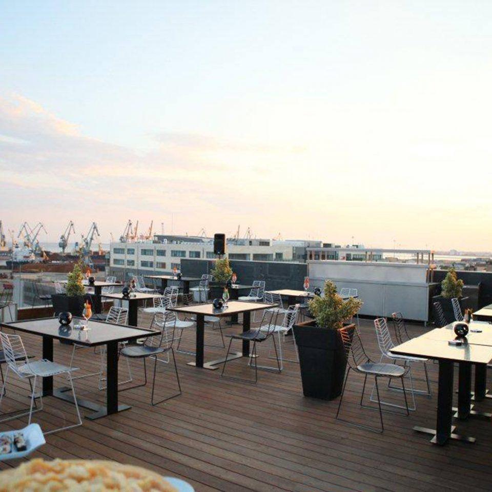 Bar Dining Drink Eat Hip Luxury sky marina dock vehicle restaurant