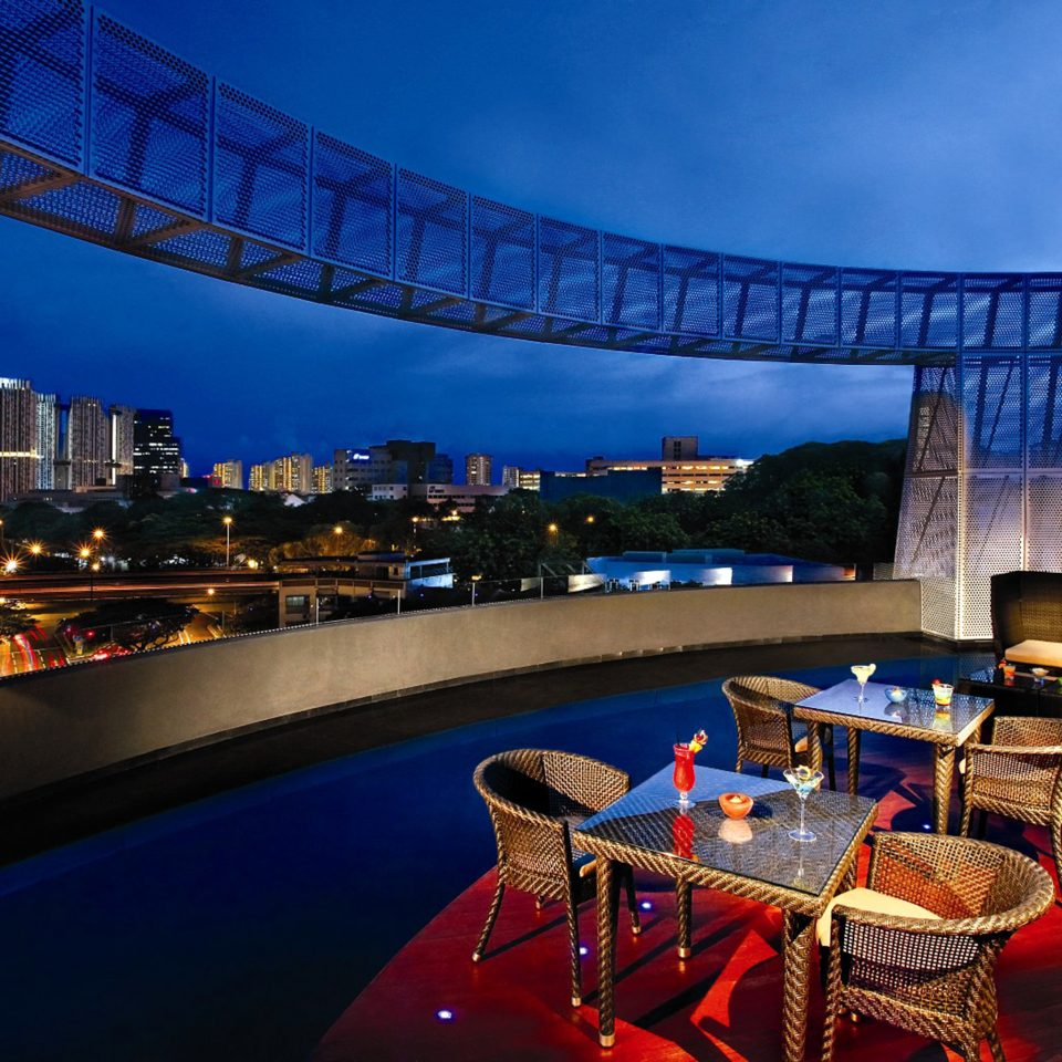 Bar Dining Drink Eat Luxury Romantic night evening convention center Resort bridge blue
