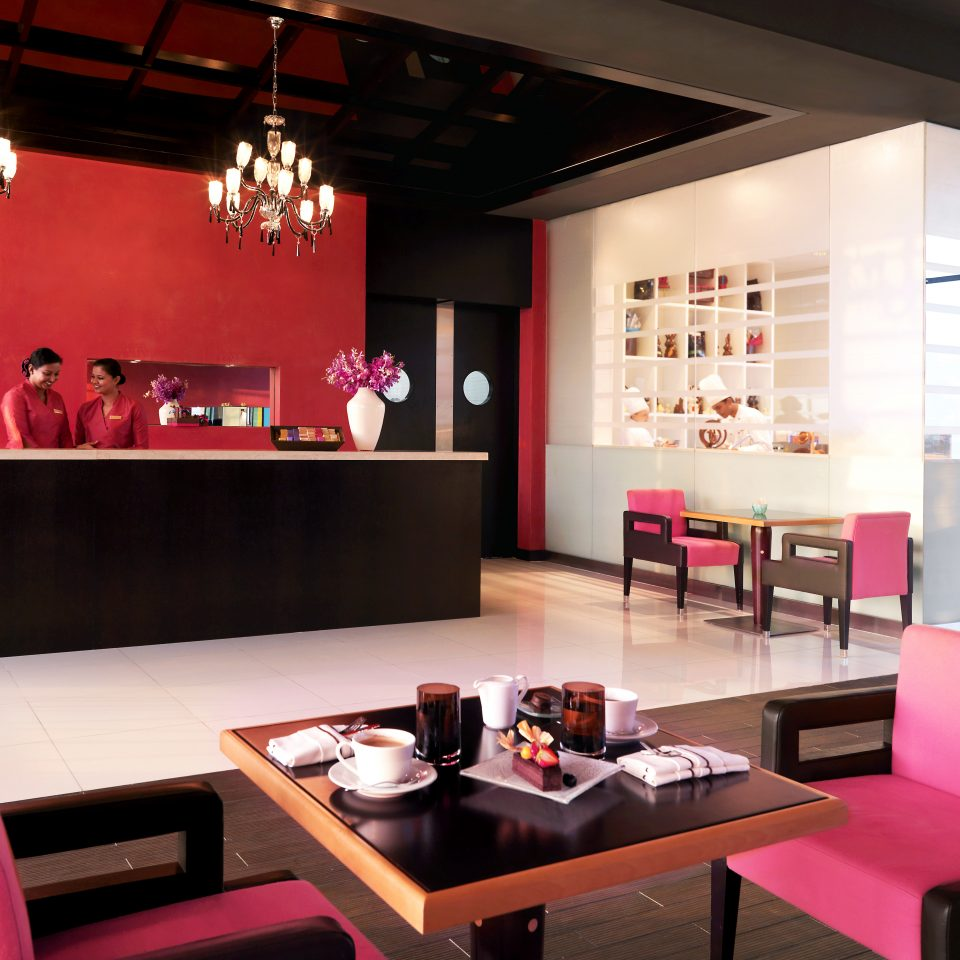 Bar Dining Drink Eat Hip Luxury restaurant red function hall