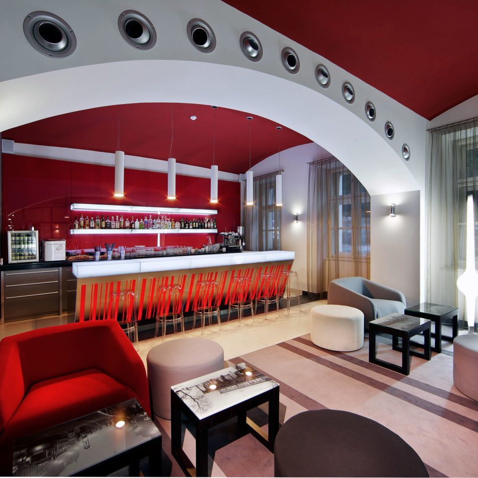 Bar Dining Drink Eat Luxury Modern red property living room home recreation room restaurant leather