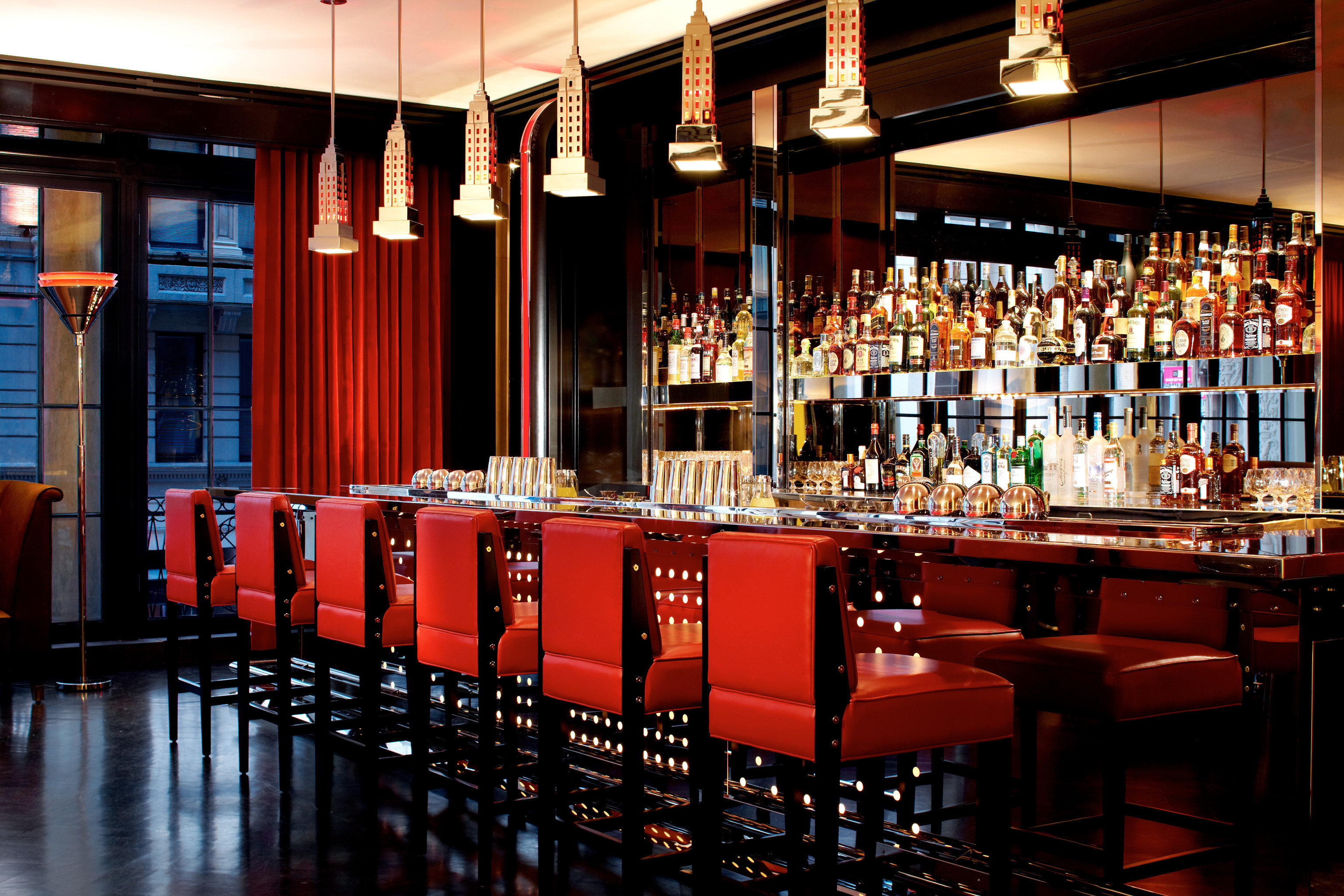 Bar Dining Drink Eat Hotels Luxury Luxury Travel Modern building red function hall restaurant nightclub
