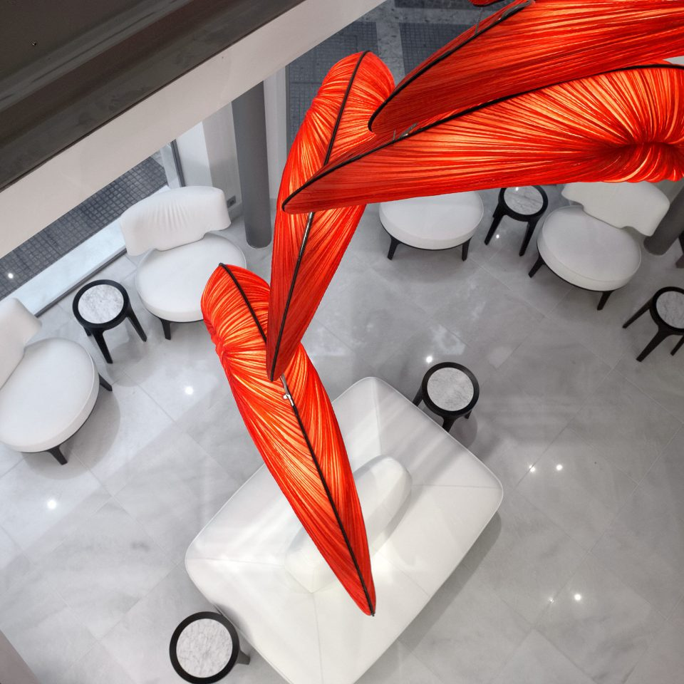 Bar Dining Drink Eat Hip Luxury white red art wing glass