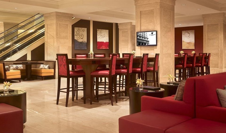 Bar Dining Drink Eat Hip Modern chair red Lobby restaurant function hall living room leather