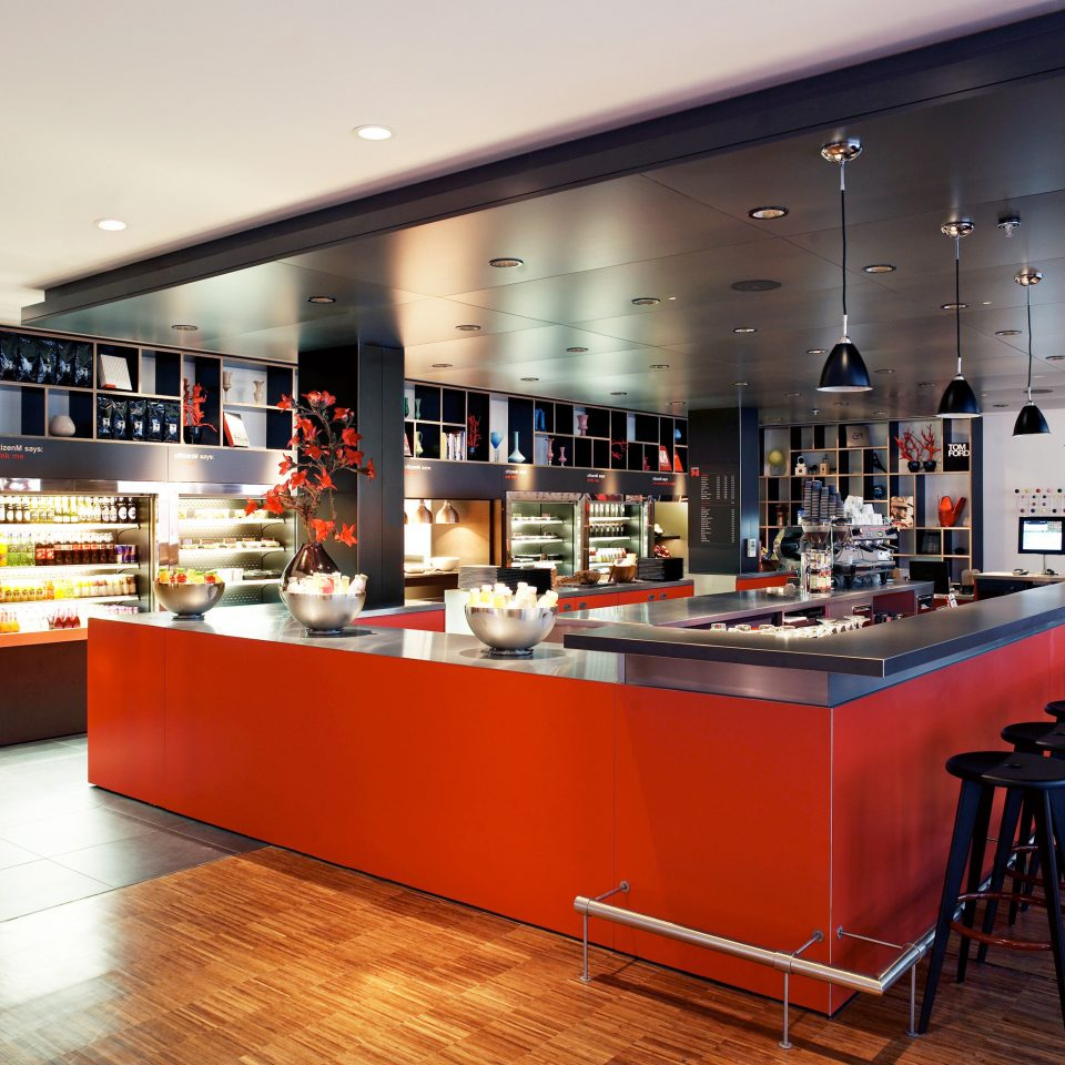 Bar Dining Drink Eat Hip Kitchen Modern restaurant café cafeteria fast food restaurant food counter
