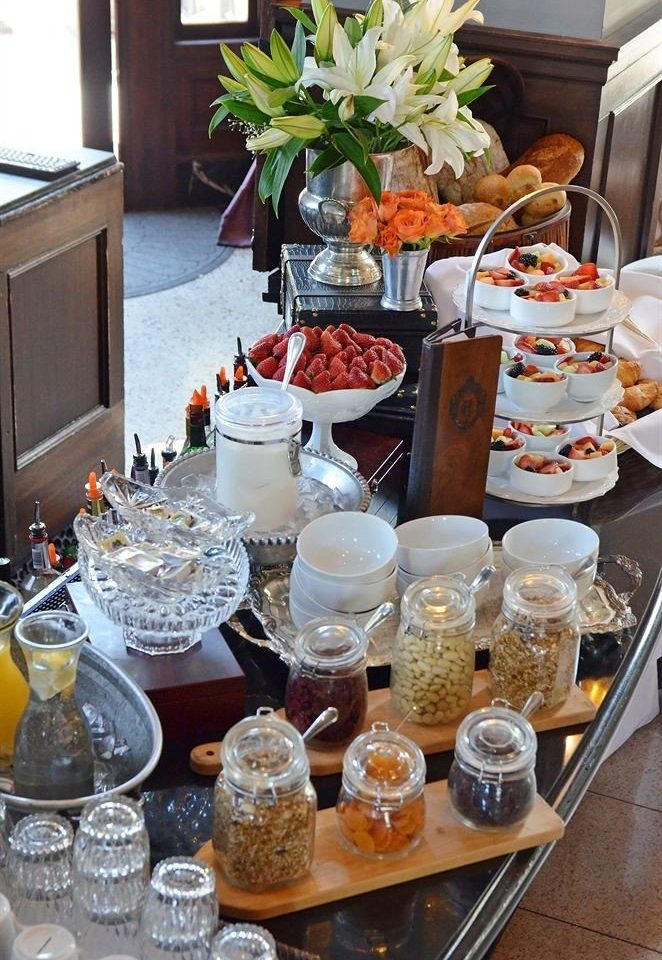 Bar Dining Drink Eat Elegant brunch counter centrepiece breakfast food set