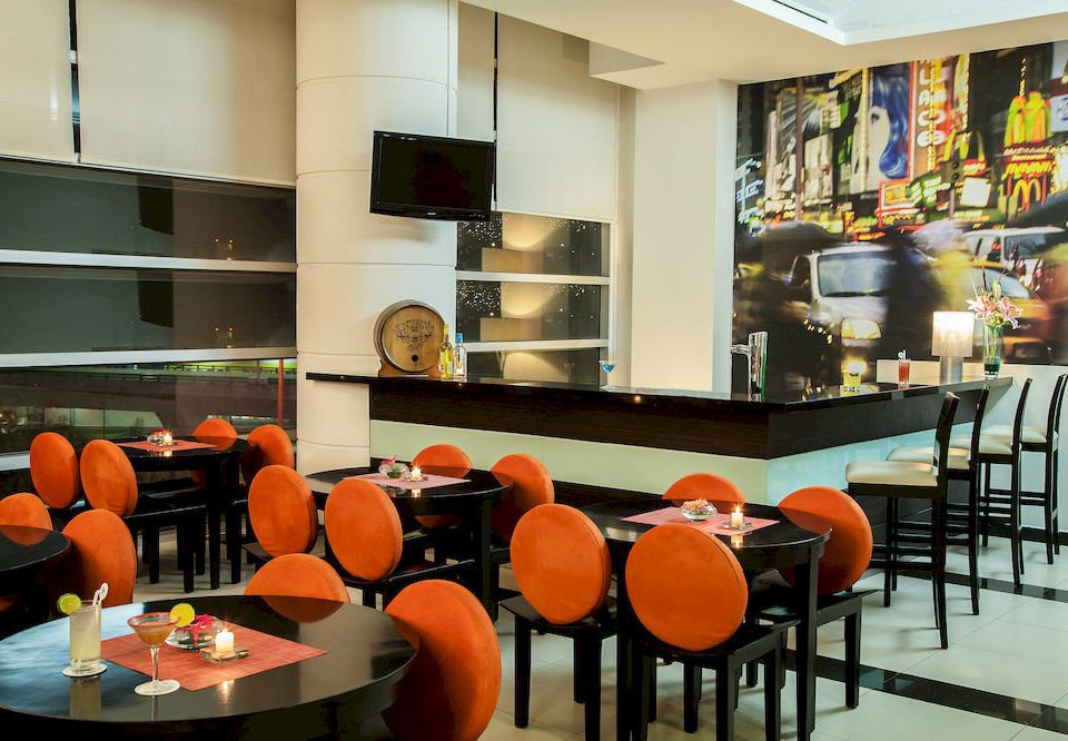Bar Dining Drink Eat Hip orange chair restaurant cafeteria café classroom coffeehouse set