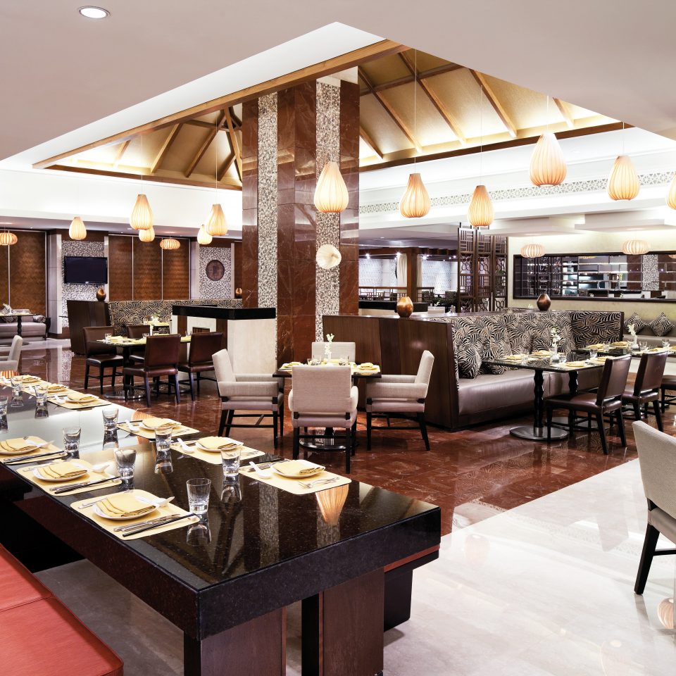 Bar Dining Drink Eat Hip Luxury Modern restaurant café cuisine cafeteria condominium food Lobby coffeehouse Island