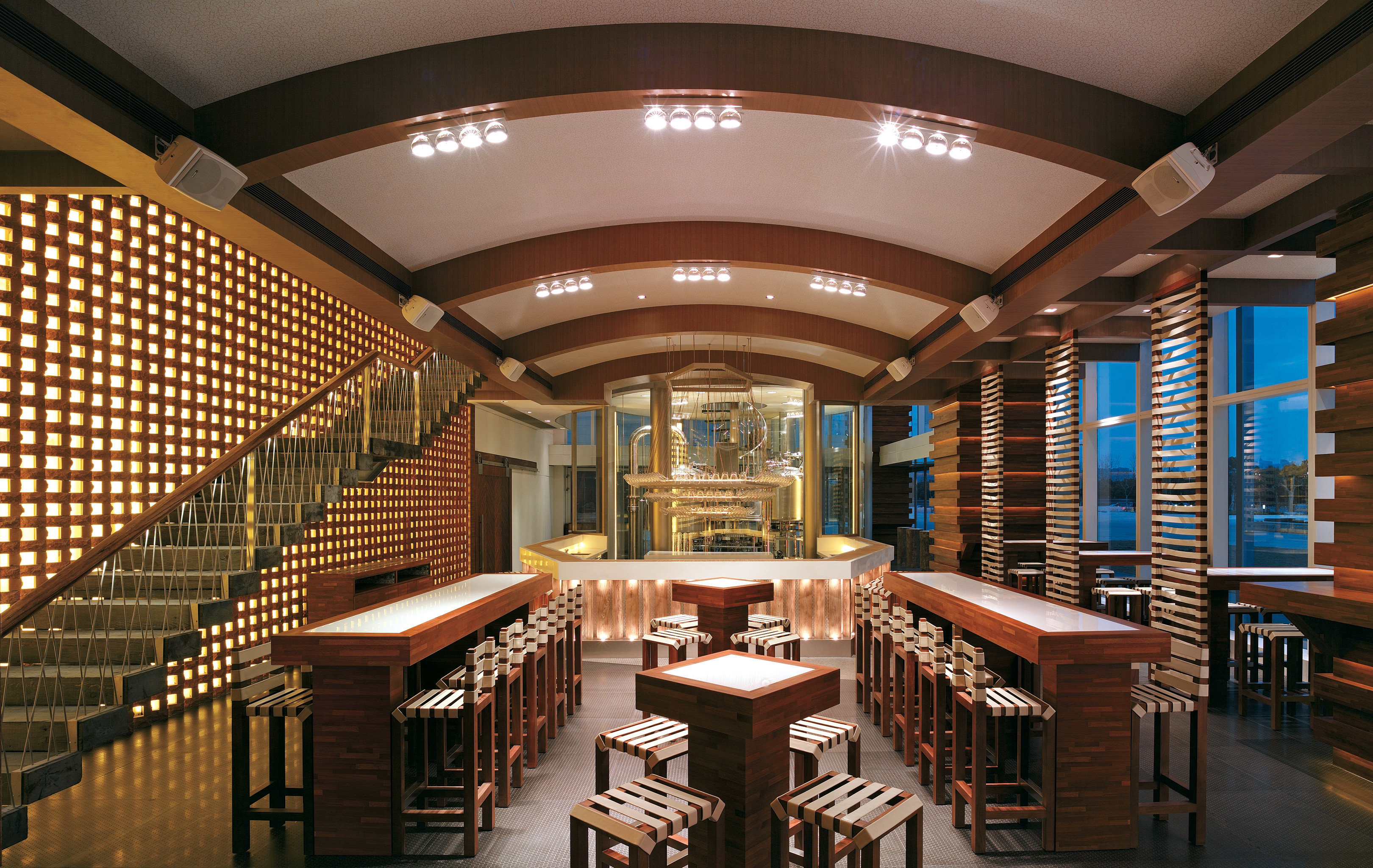 Bar Dining Drink Eat Hip Luxury library building auditorium Lobby convention center function hall conference hall