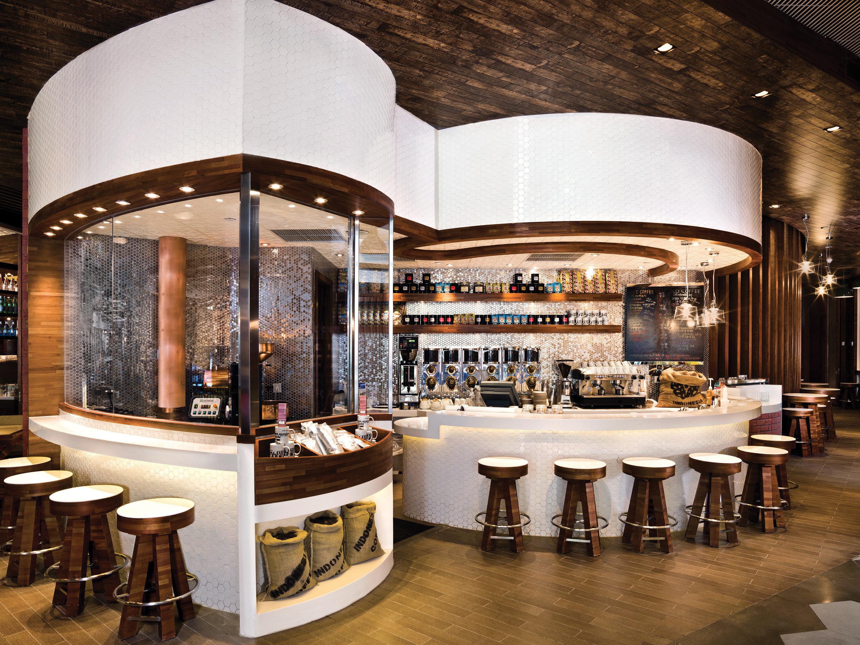 Bar Dining Drink Eat Hip Luxury restaurant Lobby lighting cabinetry