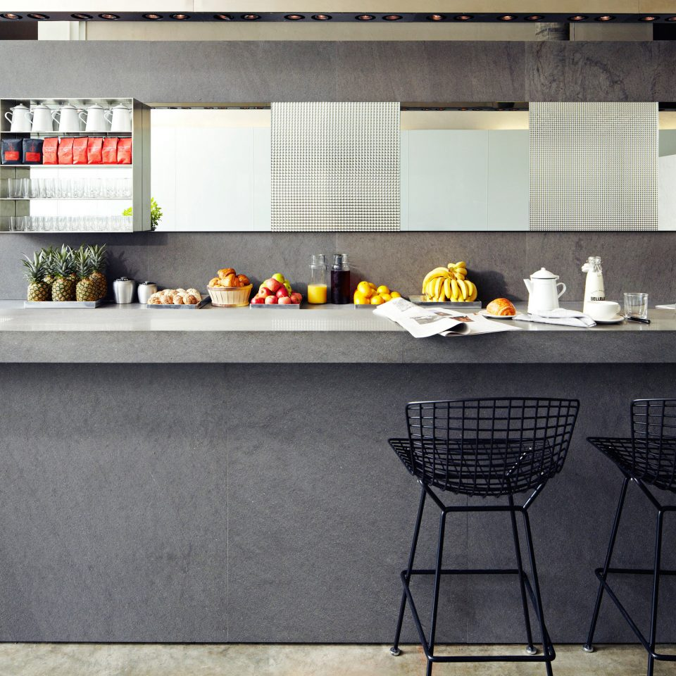Bar Dining Drink Eat Modern property Kitchen countertop home tile flooring cuisine cabinetry material