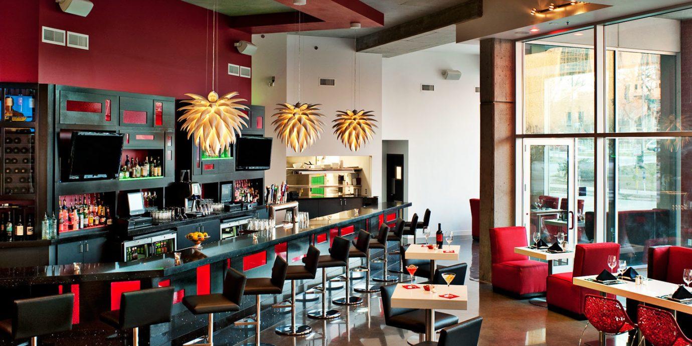 Bar Dining Drink Eat Resort restaurant red café cafeteria food court