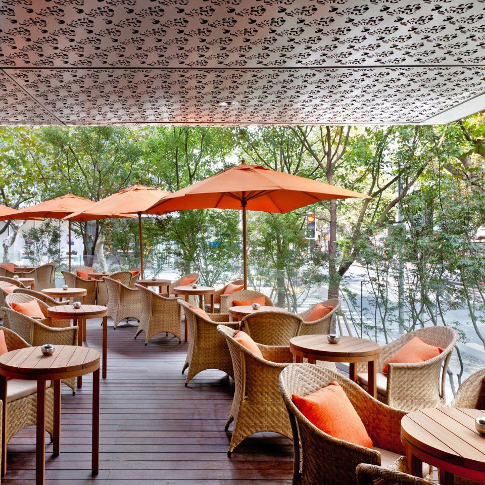 Bar Dining Drink Eat Luxury Modern chair umbrella leisure Resort restaurant lawn set
