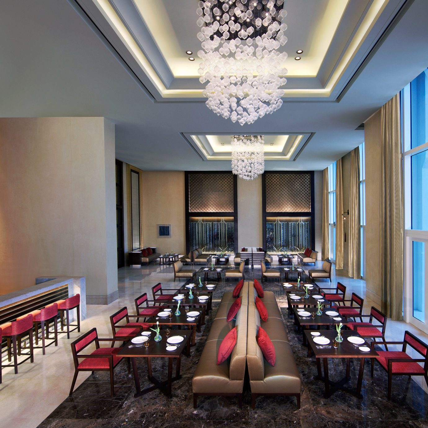 Bar Dining Drink Eat Hip Luxury auditorium function hall conference hall restaurant