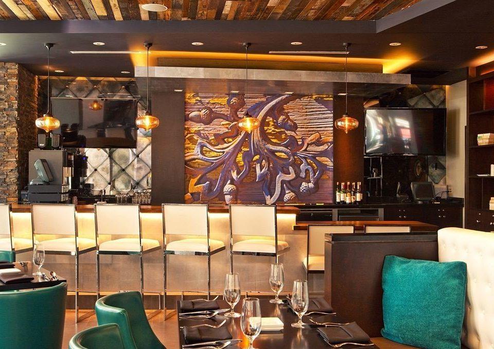 Lovely Bar Dining Drink Eat Hip Luxury Modern Lobby Restaurant Function Hall Café Photo