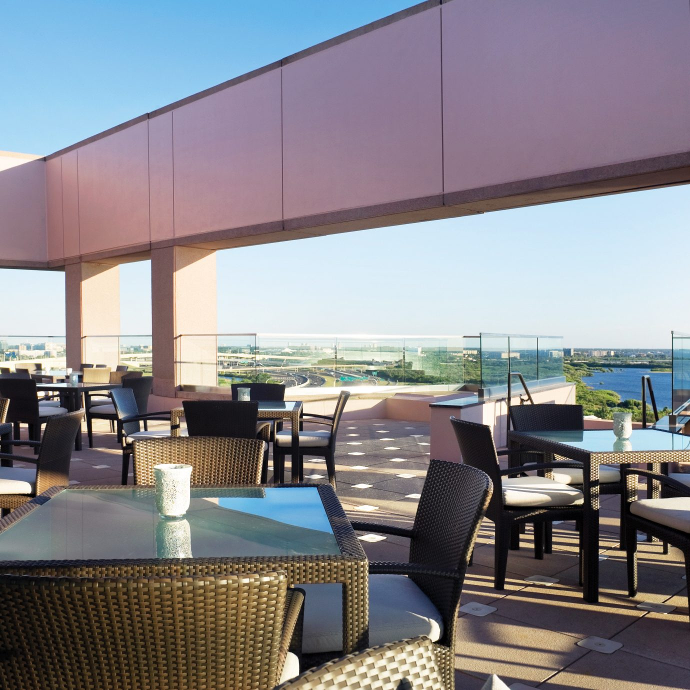 Bar Dining Drink Eat Elegant sky chair property condominium Resort restaurant Villa overlooking