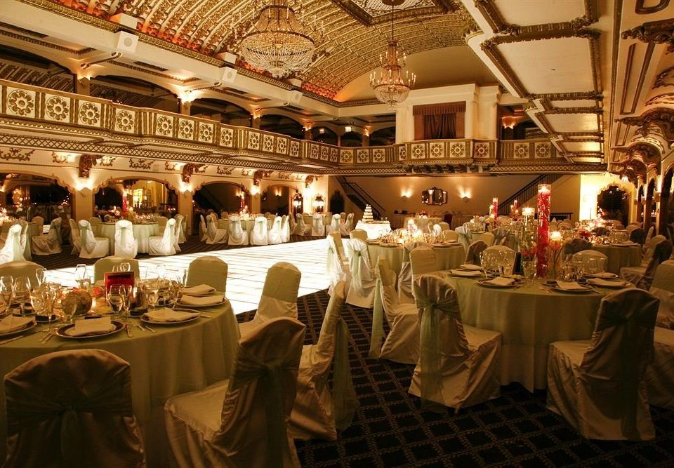 Bar Dining Drink Eat Elegant function hall banquet wedding ceremony ballroom wedding reception dinner