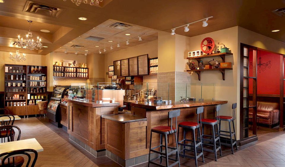 Bar Dining Drink Eat Hip Luxury Kitchen café restaurant Lobby Island Modern