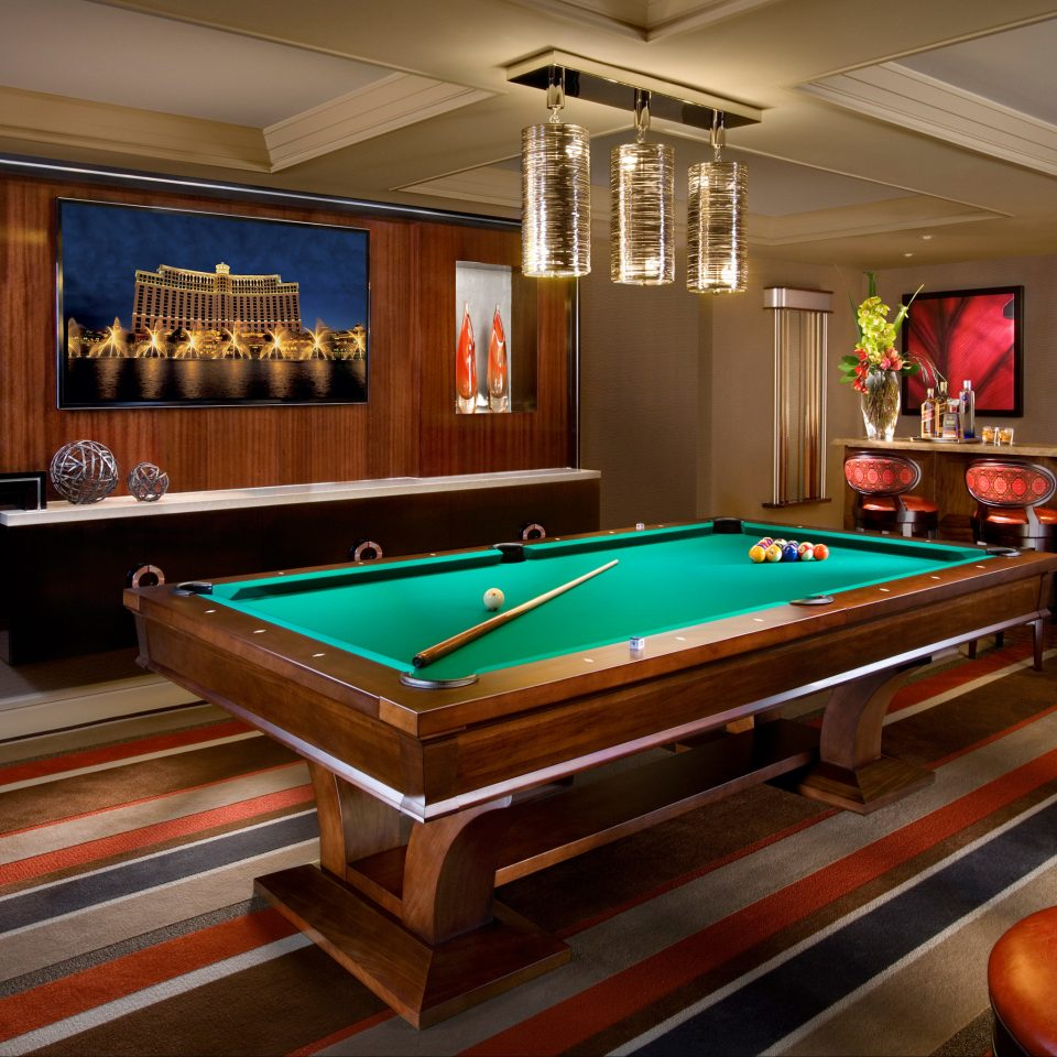 Bar Dining Drink Eat Nightlife Party Play billiard room recreation room carom billiards poolroom pool table billiard table cue sports Pool games Resort indoor games and sports Island