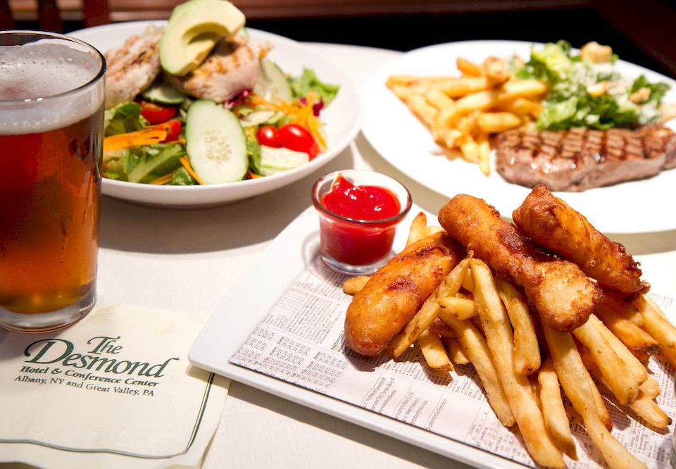 Bar Dining Drink Eat food fries lunch restaurant hors d oeuvre french fries cuisine meat fish fast food grilling brunch