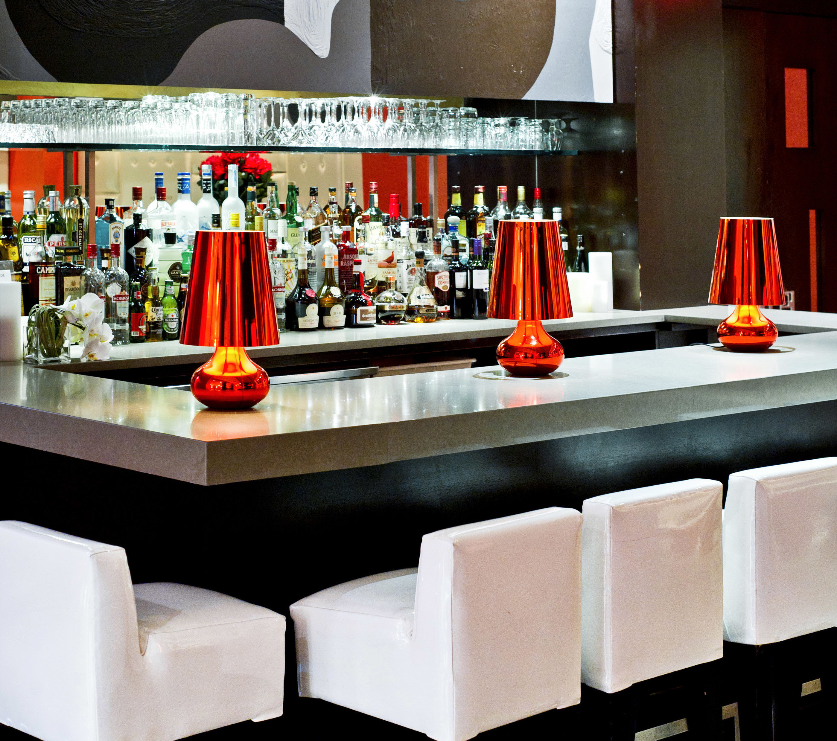 Bar Dining Drink Eat Hip Lounge Modern restaurant different colored