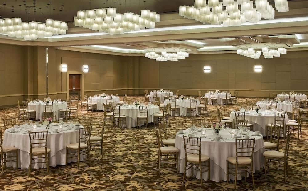 Bar Dining Drink Eat function hall aisle banquet wedding wedding reception ballroom ceremony Party centrepiece convention center rehearsal dinner line