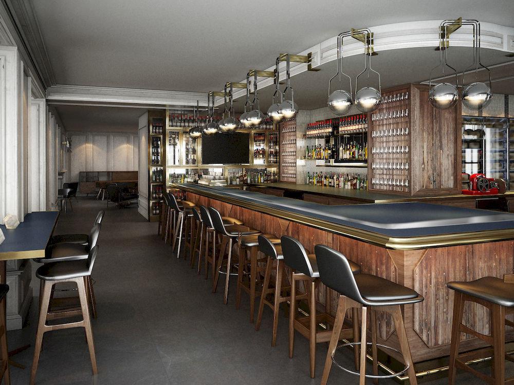 Bar Dining Drink Eat Elegant Hip Luxury restaurant cafeteria café dining table