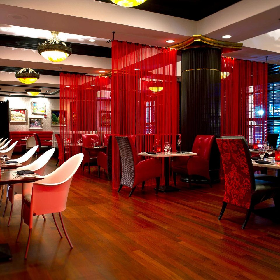 Bar Dining Drink Eat Hip Modern chair restaurant red recreation room function hall Lobby café flooring