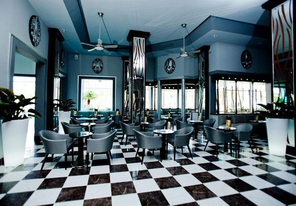 Bar Dining Drink Eat Elegant Hip Luxury Modern black restaurant indoor games and sports tile tiled stone