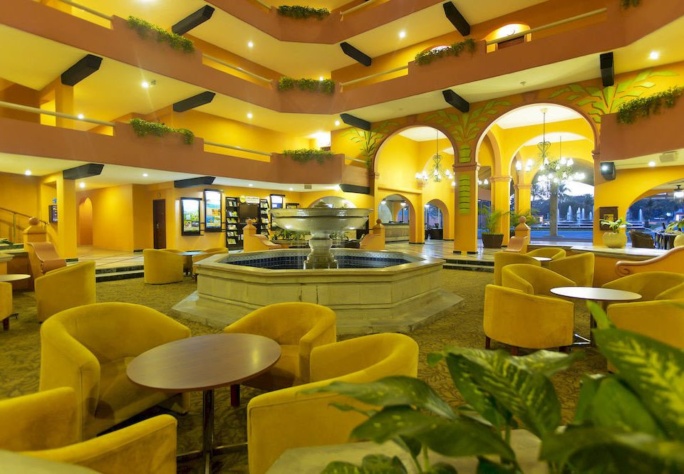 Bar Dining Drink Eat Hip Lounge Modern leisure yellow restaurant function hall Resort convention center