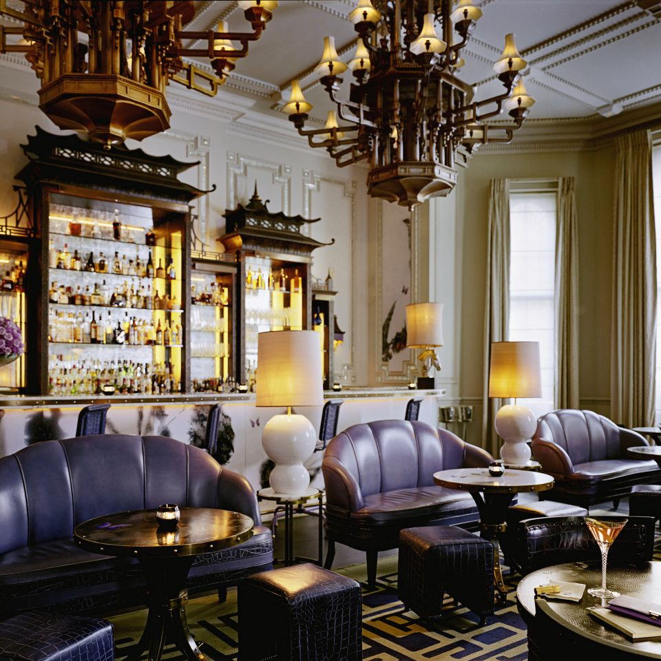 Bar Dining Drink Eat Elegant Food + Drink Historic Luxury building living room Lobby home lighting restaurant cluttered