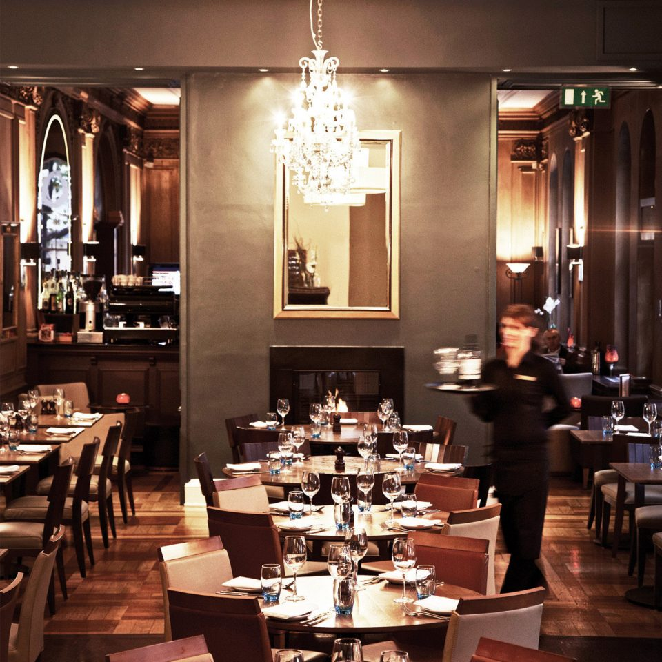 Bar Dining Drink Eat Elegant Hip Luxury Modern restaurant function hall set Island