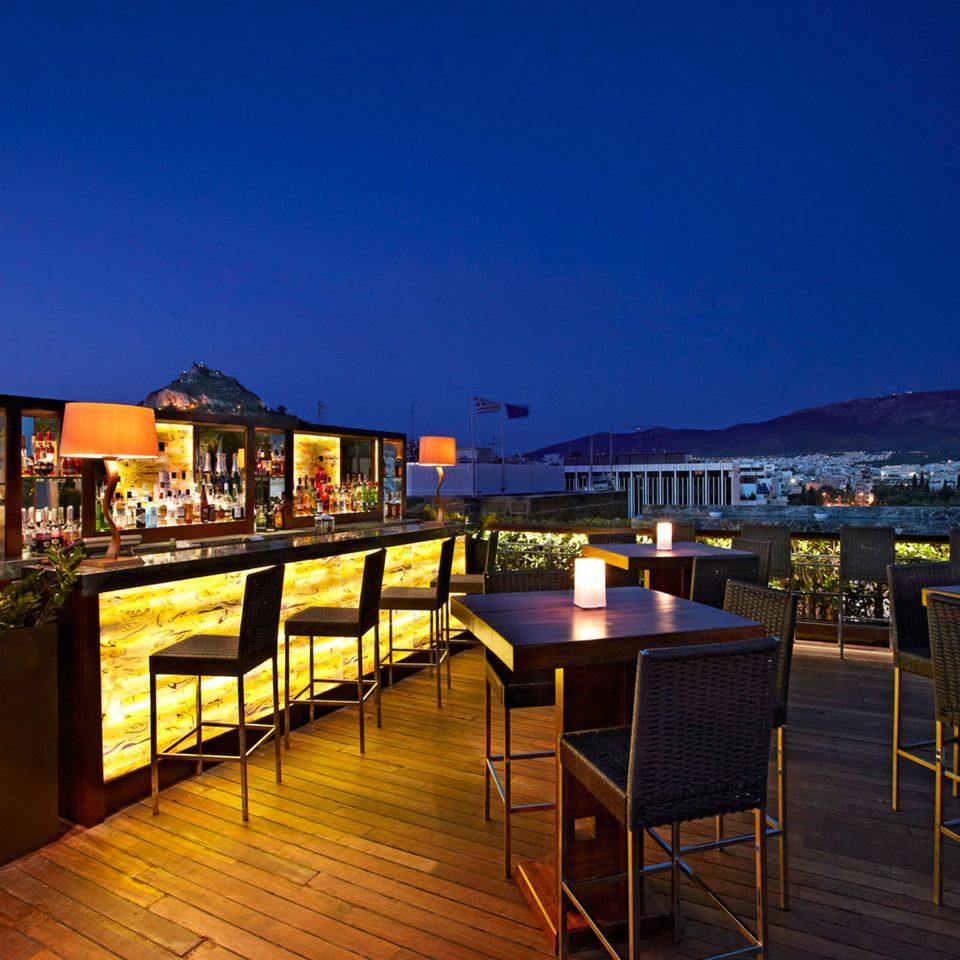 Bar Dining Drink Eat Elegant Luxury sky night restaurant Resort evening