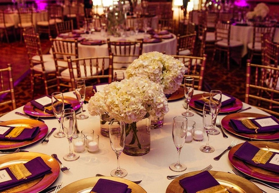 Bar Dining Drink Eat Hip plate dinner restaurant cloth banquet brunch function hall set wedding reception dining table