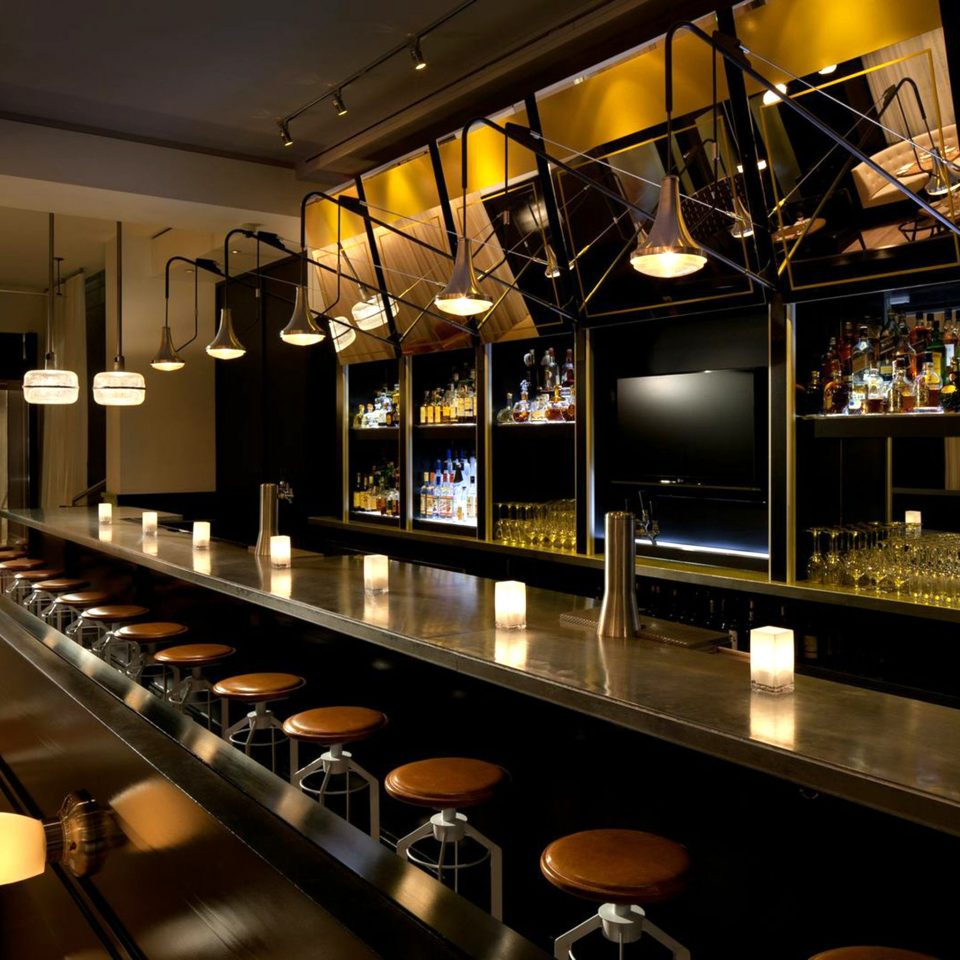 Bar Dining Drink Eat Lounge Luxury Modern restaurant long stainless