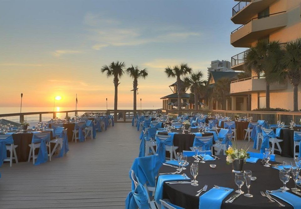 Bar Dining Drink Eat Luxury sky marina scene Resort dock set lined