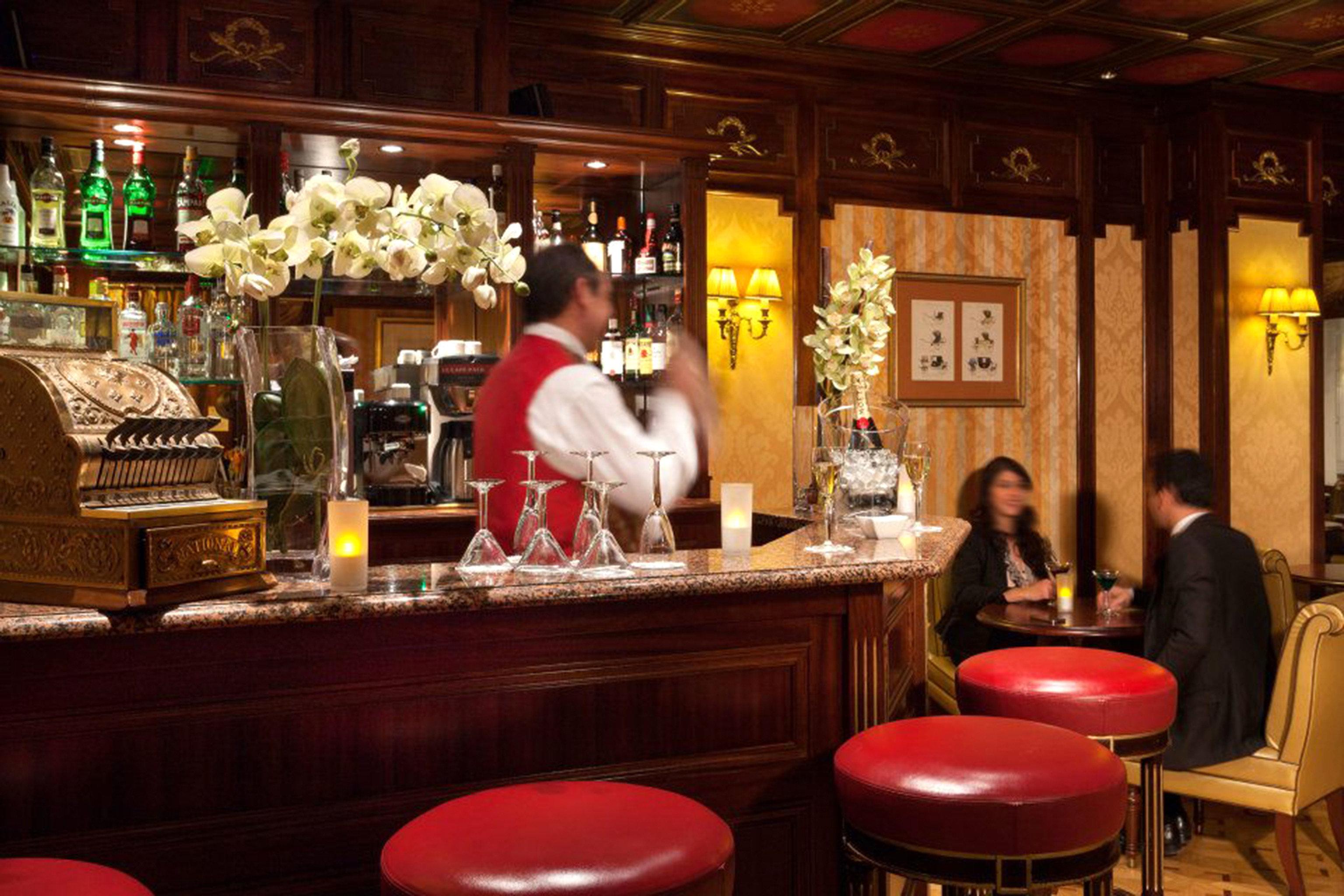 Bar Dining Drink Eat Elegant red restaurant function hall dining table
