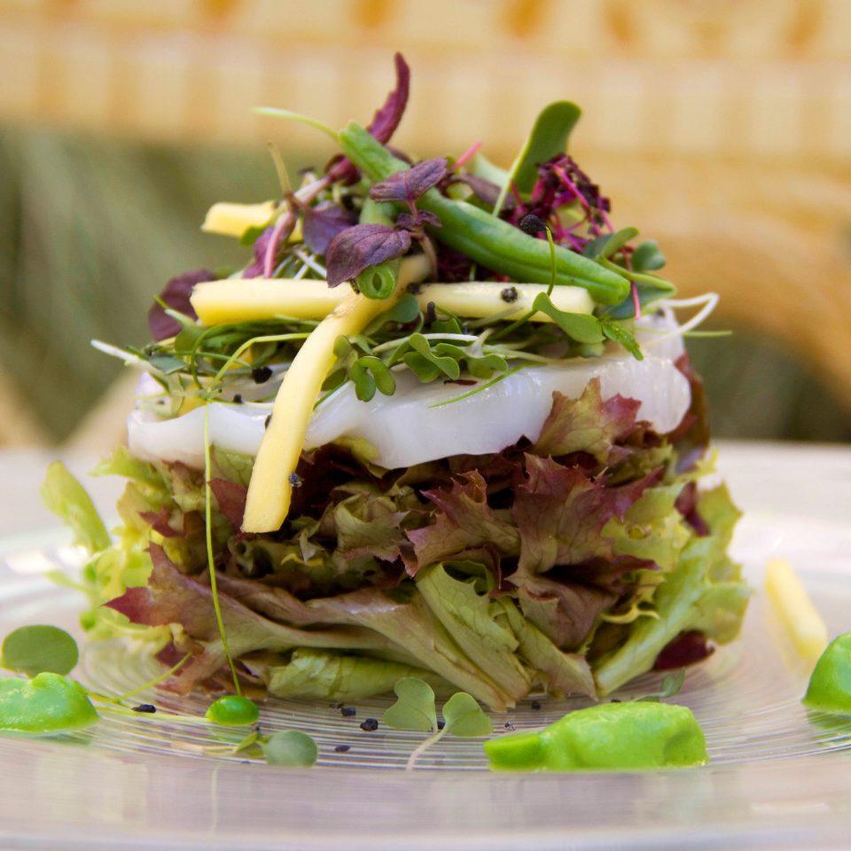 Bar Dining Drink Eat Lounge Modern food plate salad cuisine vegetable tostada piece de resistance