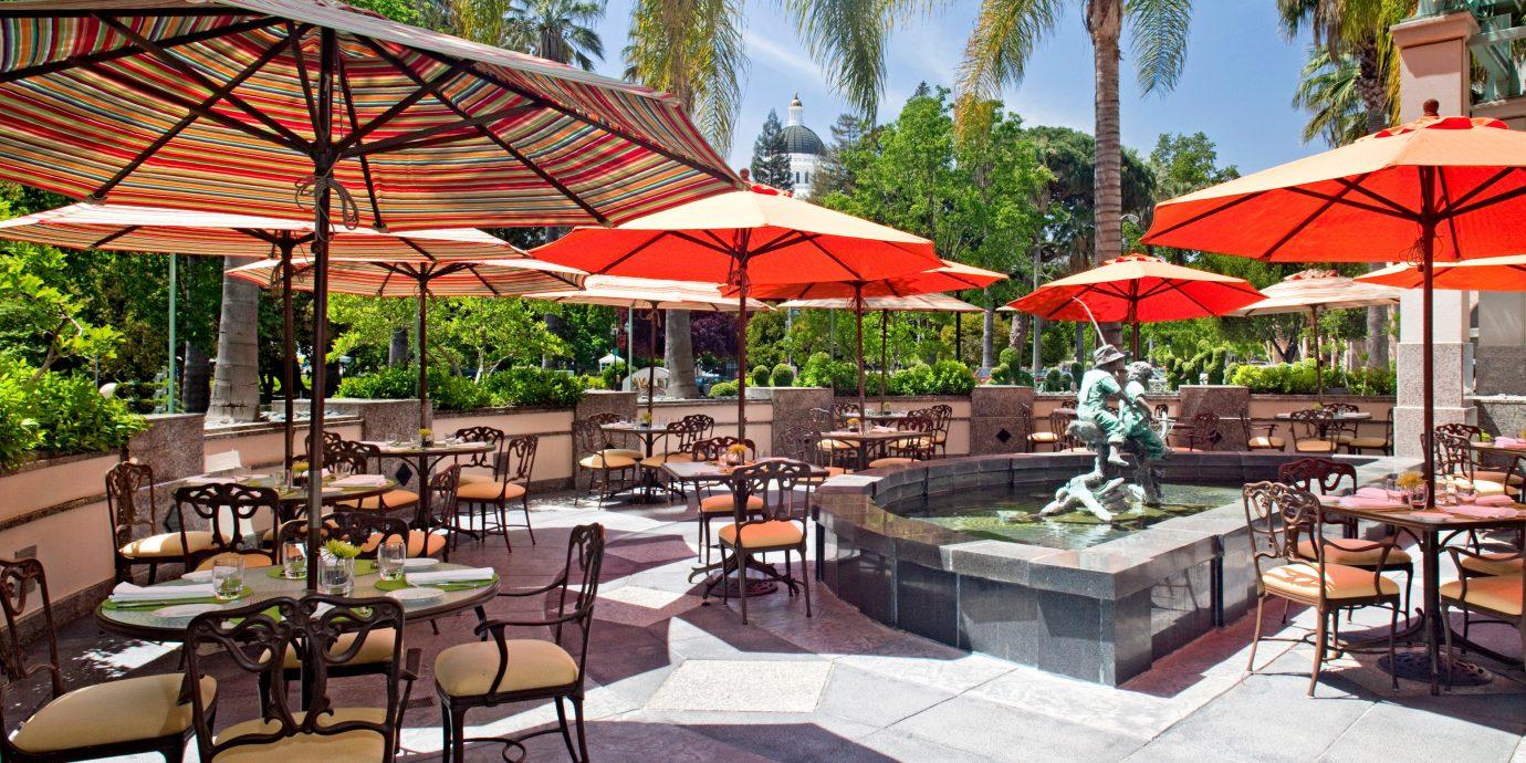 Bar Dining Drink Eat Hip Modern tree chair umbrella Resort restaurant outdoor structure plaza lawn set accessory shade
