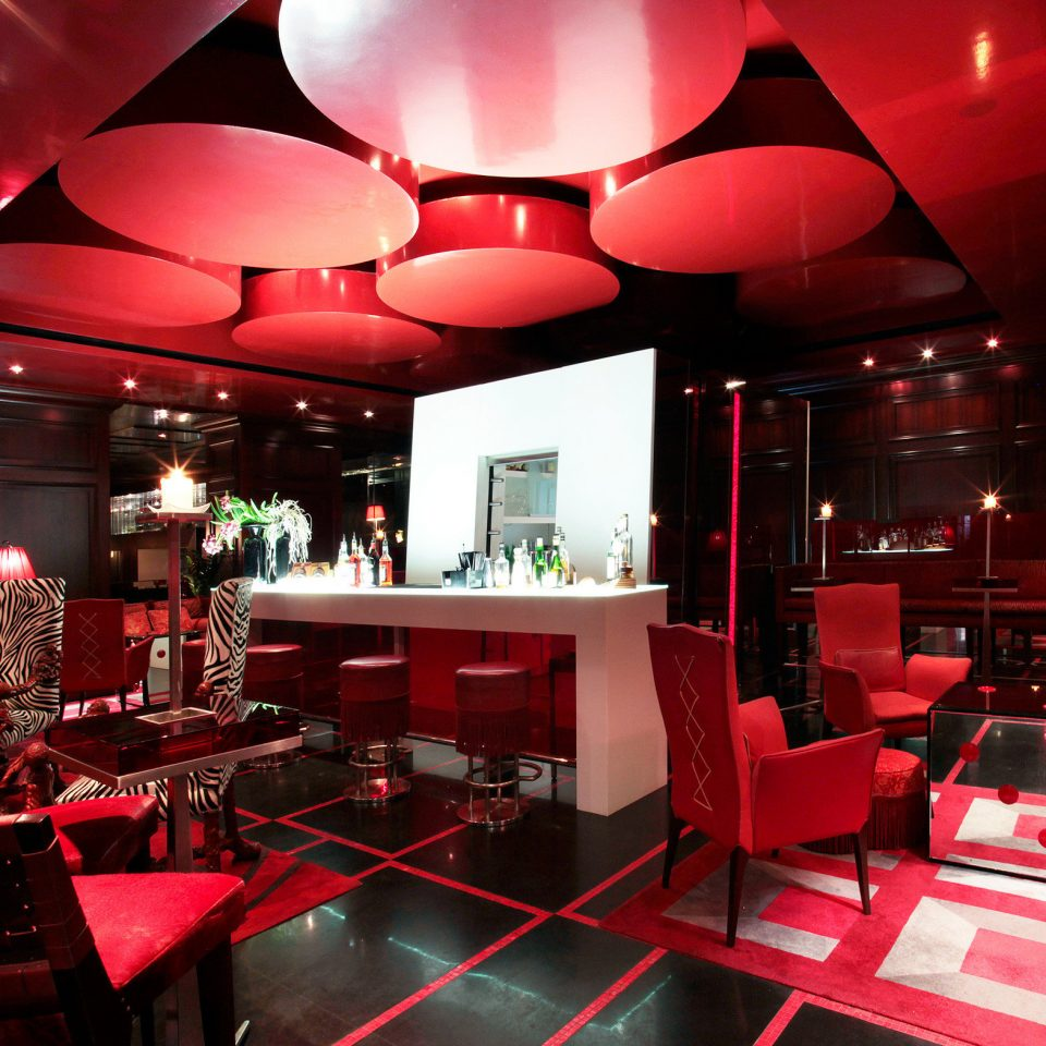 Bar Dining Eat Elegant Hip Luxury Modern Nightlife red restaurant nightclub function hall