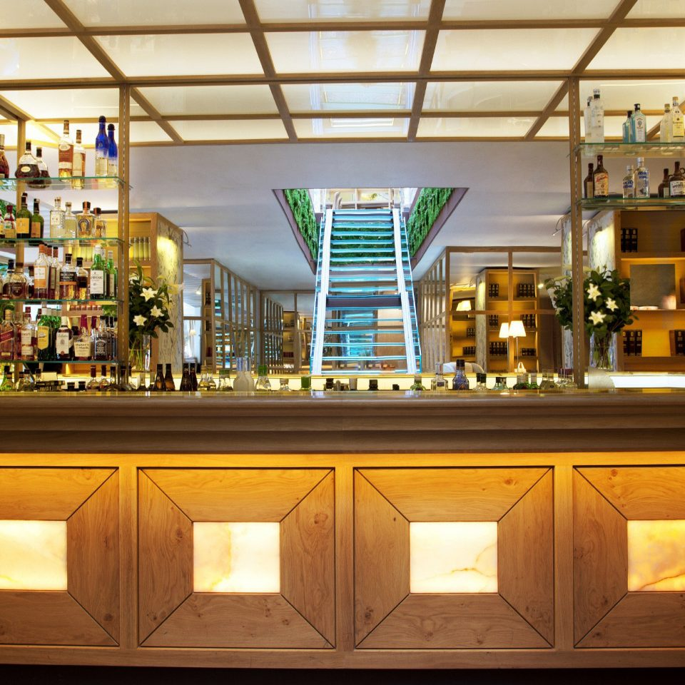 Bar Dining Eat Hip Hotels Lounge Luxury Madrid Modern Spain cabinet retail Lobby restaurant