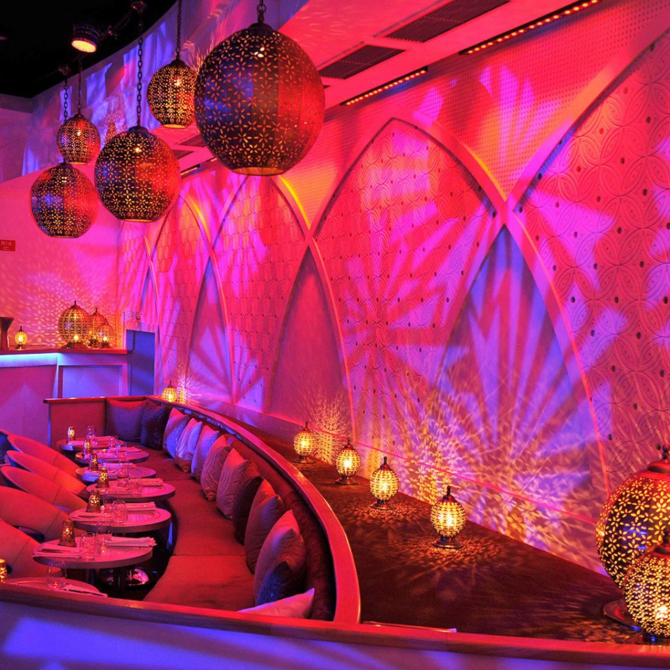 Bar Dining Hip Party red light nightclub stage event musical theatre