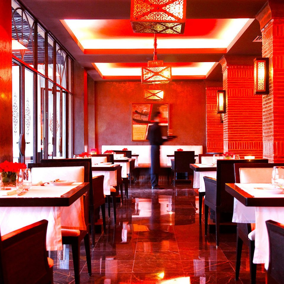 Bar Dining Hip Party restaurant red chair function hall café
