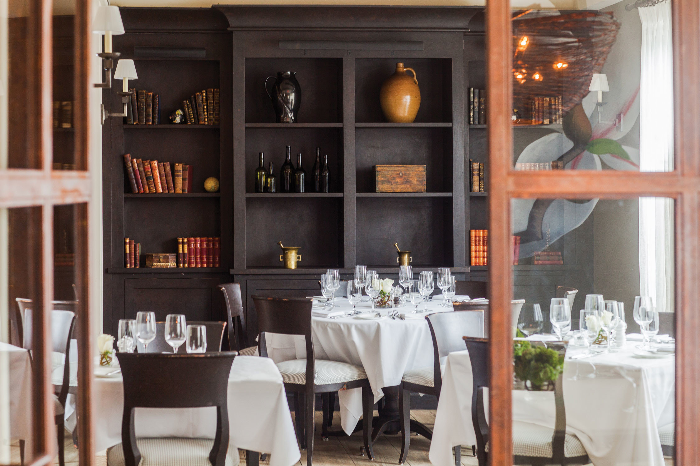 restaurant Dining home shelf Bar set