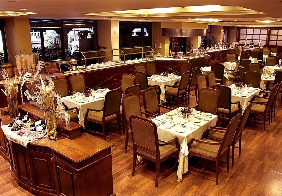 restaurant Dining function hall café Bar set Island
