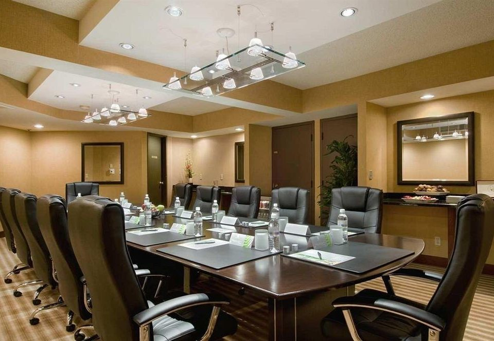 chair property conference hall function hall restaurant Dining convention center Bar Modern Island leather dining table