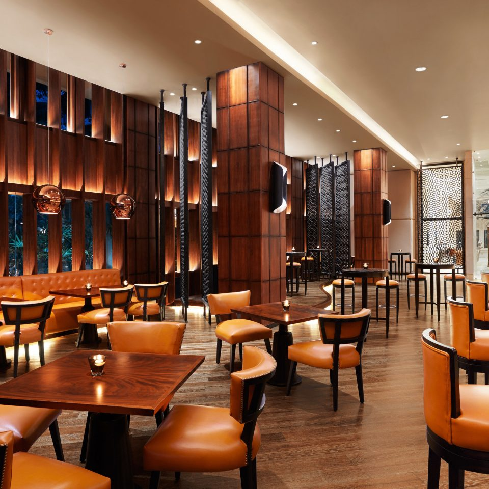 chair Lobby restaurant function hall conference hall Bar convention center Dining café