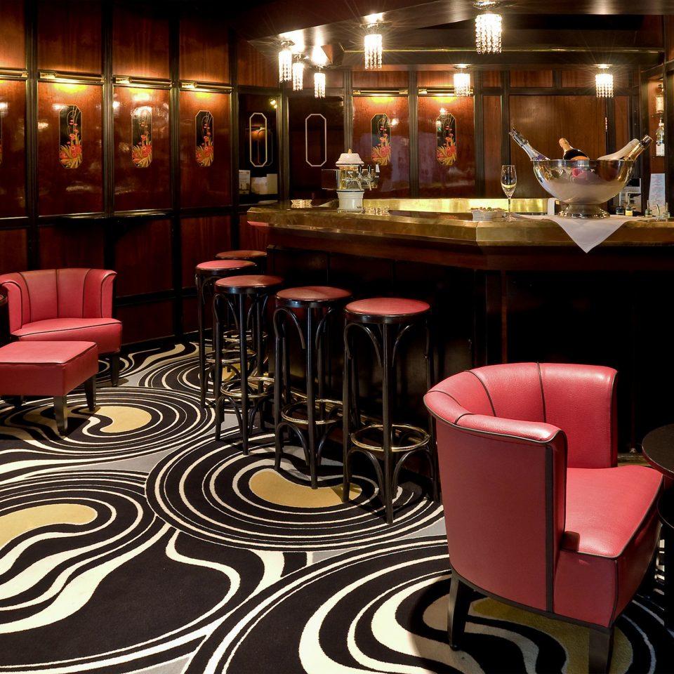 chair red restaurant Bar function hall nightclub Dining Lobby
