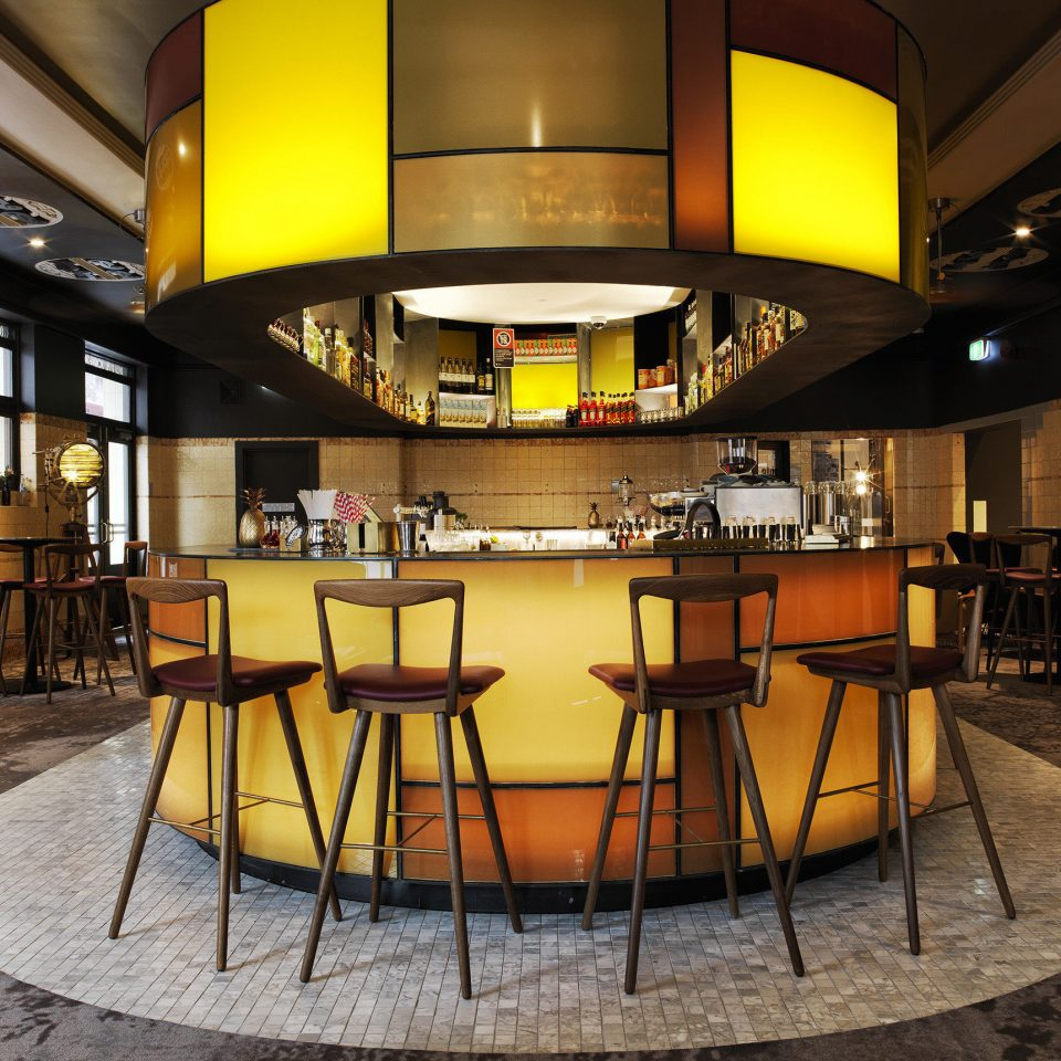 yellow chair Lobby lighting Bar Dining