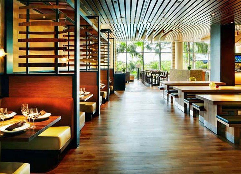 building Lobby Dining restaurant Resort wooden condominium Bar living room