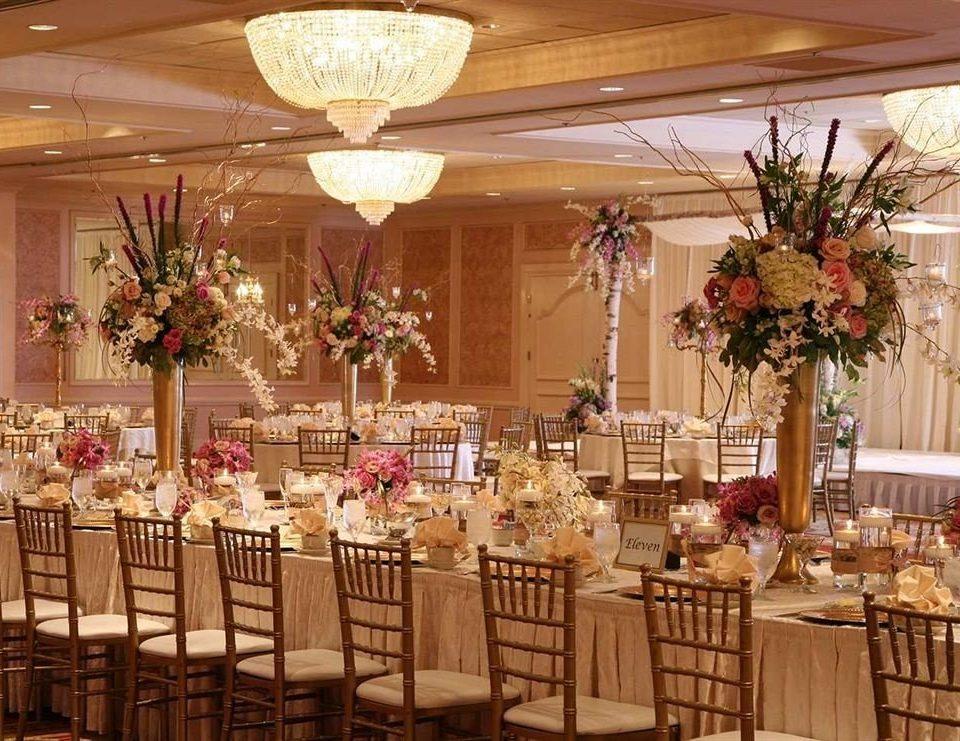 chair function hall Dining banquet wedding wedding reception aisle floristry flower arranging ceremony centrepiece flower ballroom Party plant floral design buffet fancy Bar